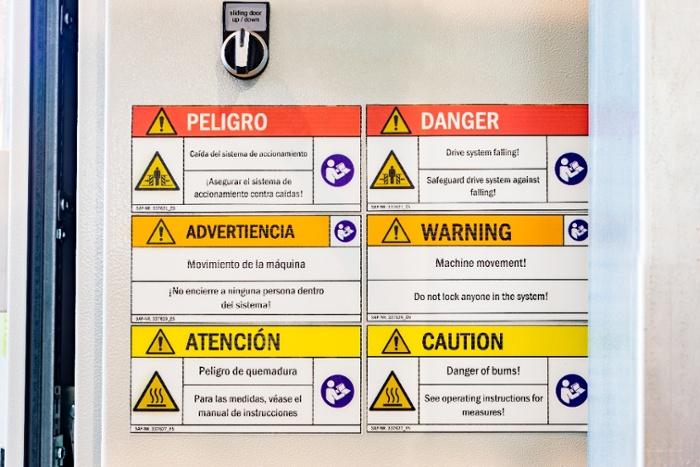 Sicherheitskennzeichen nach DIN EN ISO 7010