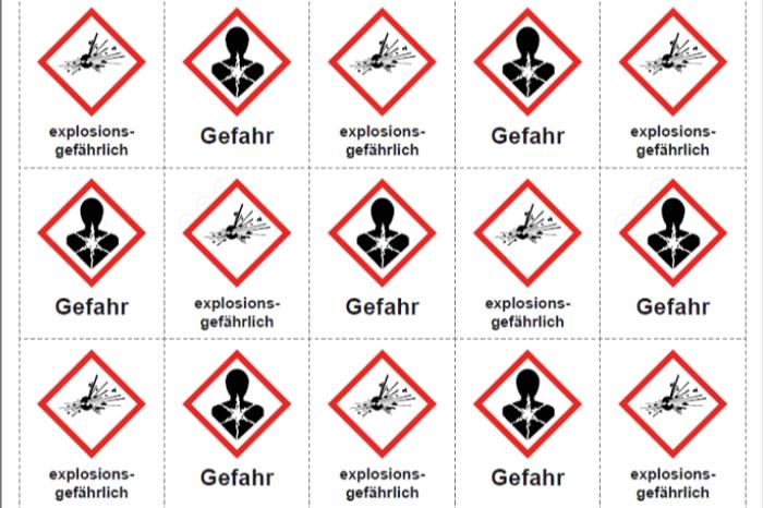 Gefahrstoffkennzeichen nach GHS/CLP